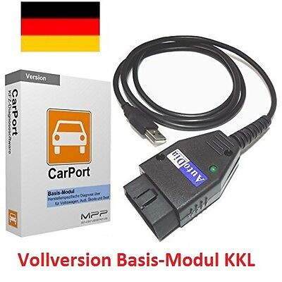 CarPort Diagnosegerät Interface + Software Basis-Modul KKL Audi VW Skoda Seat