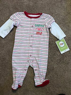 Long Sleeve One  Piece Romper Santa Loves Me Christmas 9 Months