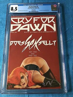 Cry for Dawn #5 - Limited Executive Edition - CFD - CGC 8.5 - Joseph Linsner