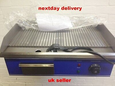 Stainless Steel Ribbed Commercial   Electric Griddle