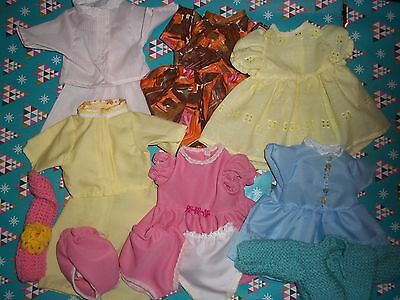 Dolls clothes to fit Tiny Tears (gold set)