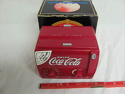 Vintage Coca-Cola Mini Cooler Radio AM/FM With TV-1 & 2 Bands In Box