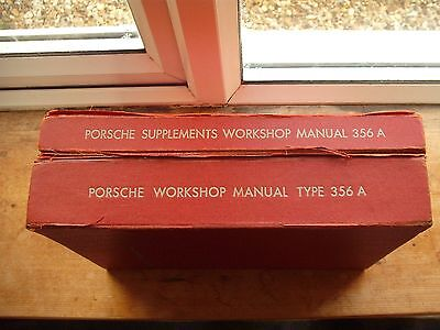 Porsche 356A Workshop manual with extra supplements manual