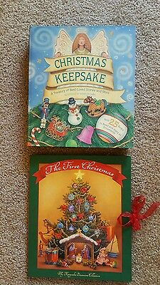 """Southern Living at Home Nativity Ornament Keepsake Book """"The First Christmas"""""""