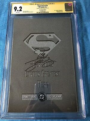 Superman #75 bagged edition - DC - CGC SS 9.2 - Signed by Dan Jurgens - Death of