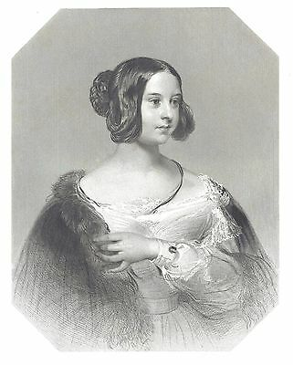 Lady Anne Jane Howard (Court of Queen Victoria) Engraving after C. Brocky  c1840