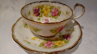 Beautiful Royal Standard ''Charmaine'' Tea Cup & Saucer with Raised Red Dots