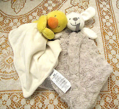 Carters Duck Security Blanket and Puppy Dog Security Blanket Cute