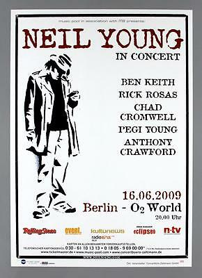 NEIL YOUNG - rare original Germany 2009 concert poster