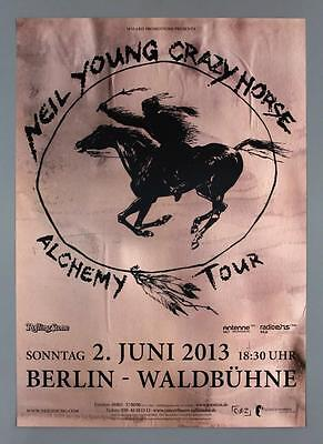 NEIL YOUNG AND CRAZY HORSE - rare original Germany 2013 concert poster