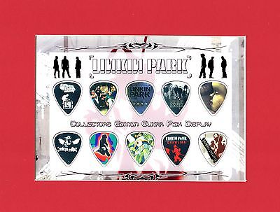 Linkin Park Matted Picture Guitar Pick Set Minutes To Midnight The Hunting Party