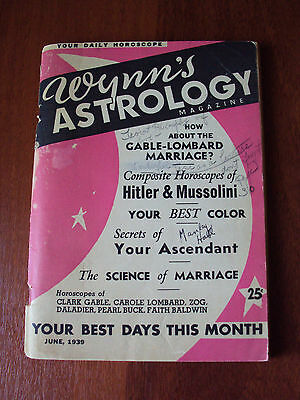 WYNN'S 1939 Astrology predictions of Hitler and Mussolini