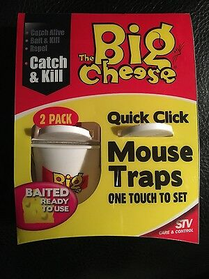 The Big cheese quick click mouse trap 2 pack