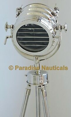 Vintage Nautical Heavy Big Spot Floor Search Light Studio Antique Floor Lighting