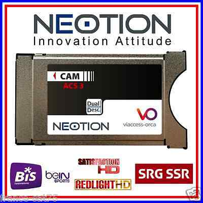 PCMCIA VIACCESS NEOTION DUAL COMPATIBLE beIN Sport France, BIS, Elite HD, SCT...