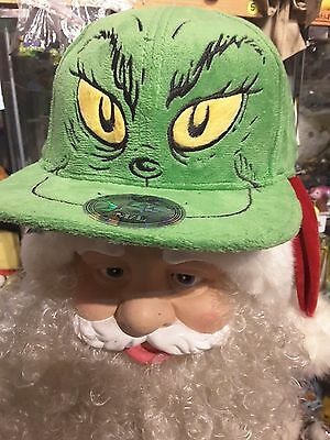 Official Dr Seuss GRINCH cap Christmas gift NEW hat RARE IN UK collectable plush