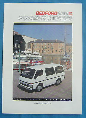 Bedford Midi Personnel Carriers 1990 Brochure Free P&P to UK