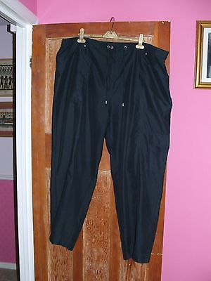 Cotton Traders Women's Size 24 Trousers dark navy
