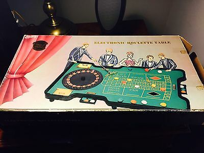DELUXE ELECTRONIC ROULETTE TABLE by ROYAL CASINO a COLLECTORS ITEM