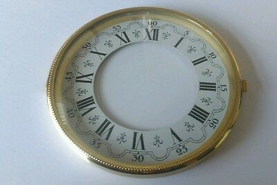 Brass Clock Bezel and Glass 113mm Roman Dial