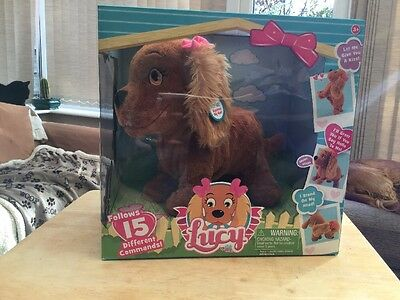 Lucy The Puppy Dog Interactive Electronic Puppy Toy 15 Different Commands Bnib