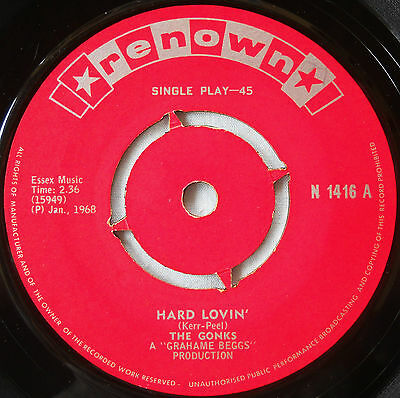 The Gonks-Ultra Rare South African Rock Beat 1968 45-Hard Lovin'/you Don't Know