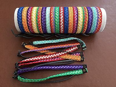 25 Bright Colourful Friendship Bracelets In Tube, Mixed Colours