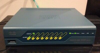 CISCO ASA 5505 V13 Security Appliance Inc Power Supply + UK Mains Cable