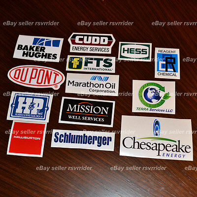 oil rig gasser hardhat decal sticker set oilfield gaswell natural gas oil