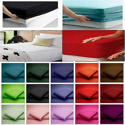 Fitted Sheet Luxury Hotel Quality Percale Single Double King Super King