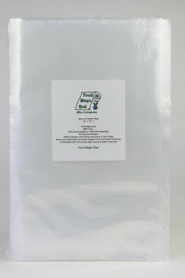 "50 QUART 8""x12"" Bags Food Magic Seal for Vacuum Sealer Food Storage Bags!"