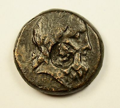 COUNTER MARK - KALLATIS in THRACE 3rdCenBC Dionysus Authentic Ancient Greek Coin