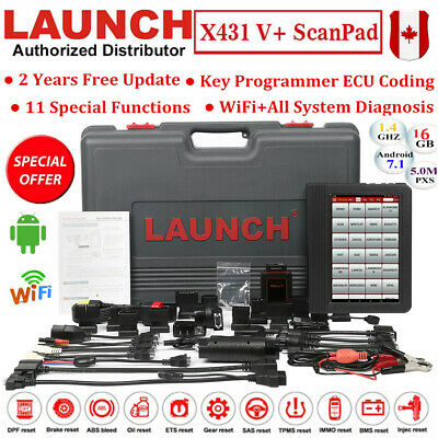 LAUNCH X431 V+ Auto Diagnostic Scanner Reader ScanPad Tool Key Programming Pro 3