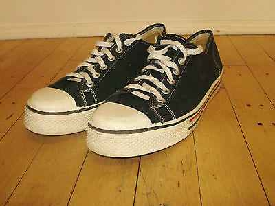 Vintage 60's Flash N Dash Navy Blue Low Top Canvas Sneakers USA Size 8