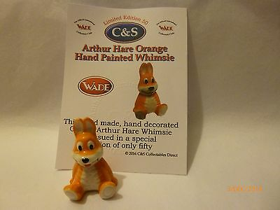 WADE-WHIMSIE ORANGE HAND PAINTED ARTHUR HARE NEW FOR 2016 1.5 inches tall LE 50