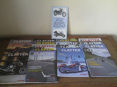 VIRAGO STAR  OWNERS CLUB-- CLATTER   MAGAZINES--2008 to 2012-- 15 issues.