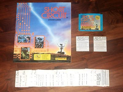 Short Circuit 1987 empty Panini Sticker album, all 240 loose stickers & packet