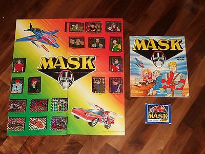 MASK 1986 Complete Panini Sticker Album, M.A.S.K. Poster, loose stickers & pack