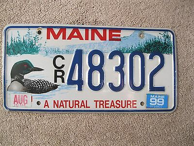 1999 Maine Loon License Plate 48302 - A NATURAL TREASURE