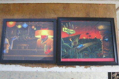 TWO FRAMED rAT rOD monster TIKI, Pin Up PRINTS COPIES 81/2 X11 check it out