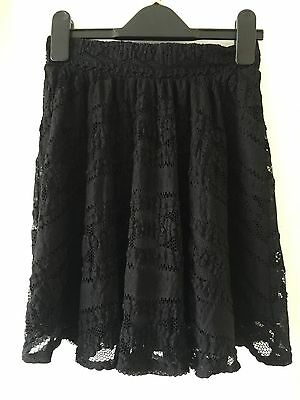 George Girls Black Lace Effect Skirt Age 11/12 Years