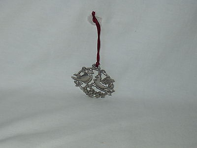 SEAGULL Pewter Canada LOVE BIRDS Ornament dated 1990