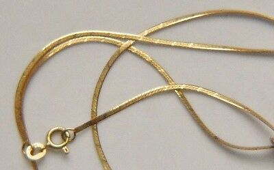 18 inch.14k Solid Yellow Gold Women Necklace Chain Marked