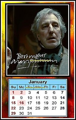 Alan Rickman, Signed 2017, Magnetic Mini Calendar, Limited Edition (MT- 9)