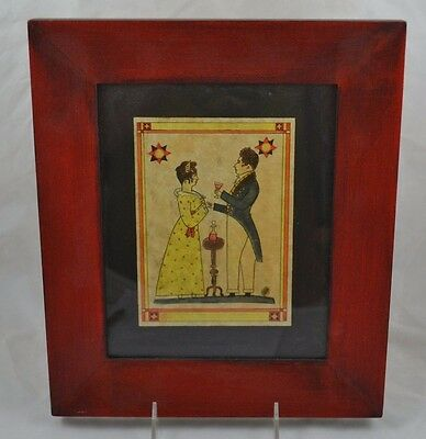 Framed Print Primitive Wedding Picture Pen Ink Beautiful No Idea of Age