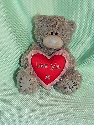 Me To You peluche 13 cm *-* LOVE YOU *-* coeur tissu rose rouge