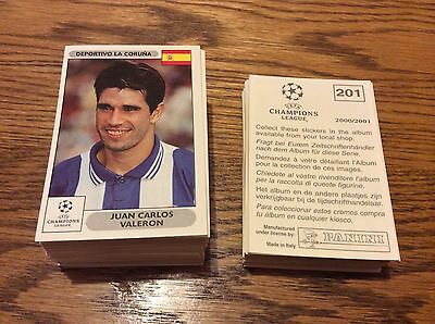 Panini Champions League 2000 2001 00 01 choose pick stickers finish collection