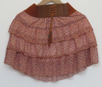 Generation Girls Pink Patterned Pleated Skirt with Waist Band 9-10Y