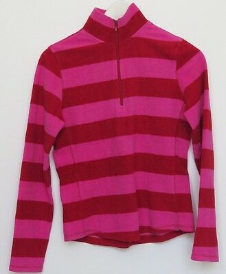 Gap Girls Cherry Red Stripped Fleece Small No Hood