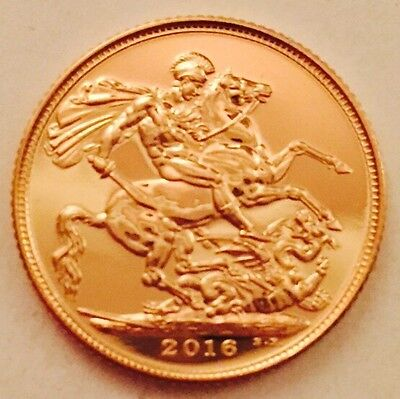 22ct Gold British Full sovereign 2016 Coin